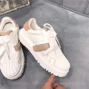 ID SNEAKER Luxurys Designers Shoes white calfskin Chaussures Women Casual platform shoe