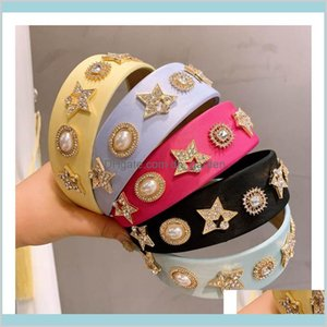 Jewelry Boutique Diamond Rhinestone Girls Fashion Headbands Accessories For Women Hair Sticks Drop Delivery 2021 2Bsh5