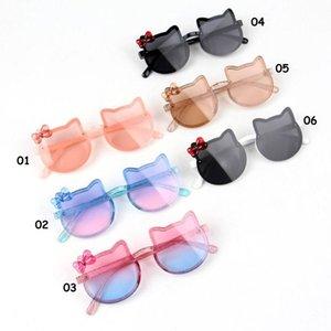 كيد النظارات الشمسية الأطفال الشاطئ الشمس uv 400 صبي فتاة جولة التبعي الكرتون القط الحب القلب شكل الشمس نظارات الطفل للحزب في الهواء الطلق
