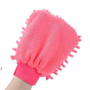 21*16CM Microfiber Chenille Washing Gloves Coral Fleece Anthozoan Car Sponge Wash Cloth Care Cleaning NHE5799