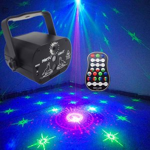 60 Patterns RGB LED Laser Disco Light 5V USB Recharge KTV DJ Dance Party Laser Light Projector LED Stage Lighting Show for Home Party