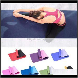 Mats 6Mm Tpe Antislip Thicken Training Pilates Cushion Enlarged Fitness Mat Yoga Gym Exercise Bf6Op Ecpbg