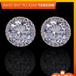 كريستال الزفاف أقراط للنساء البوهيمي جميل جولة الماس القرط الكامل تشيكوسلوفاكيا الزركون السيدات بنات الاشتباك المجوهرات
