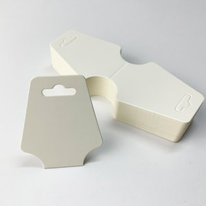 12 * 5 cm Blanco Negro Kraft Papel DIY Tarjeta en blanco Collar de joyería Envoltura Pulsera Pulsera Pantalla Pantalla Etiqueta 200pcs 639 Q2