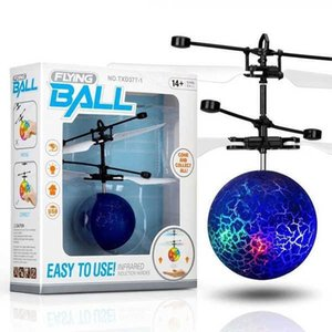 LED Flying Toys Ball Luminous Kid's Flight Balls Electronic Infrared Induction Aircraft Remote Control Magic Toy Sensing Helicopter Christ