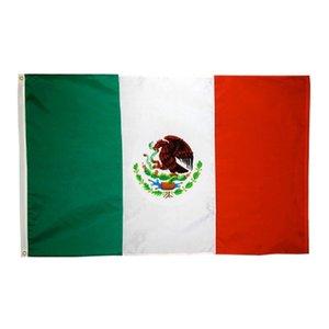 50pcs en gros usine directe 3x5 fts 90x150cm MX Mexicanos Mexicanos Drapeau mexicain de Mexique Double Stitch GWA4626