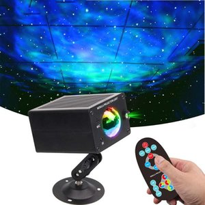 Laser Projector Star Light Sky Nebula Night Water Wave Projection Lamp Music Sync Function Atmosphere Ambient Lighting Wall