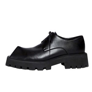 Cute Rhino Horn Height Increasing Shoes For Men personality Strange Mens Derby Shoe Square Toe Platform Oxfords