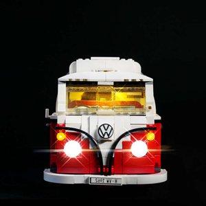 ألعاب تجميعها متوافق مع ليغو 10220 فولكس واجن T1 العربة الصمام الإضاءة الملحقات diy بنة أجزاء مضيئة 21001