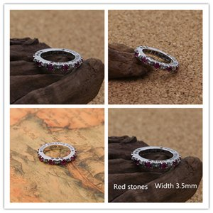 High quality 925 sterling silver crosses band rings with red stones American European antique punk Gothic vintage luxury jewelry accessories gifts