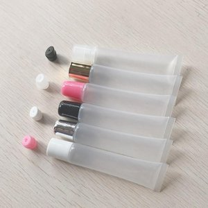 50pcs 10ml 15ml 20ml Empty Lipstick Tube,Lip Soft Hose,Makeup Squeeze Sub-bottling,Clear Plastic Lip Gloss Container F606 Storage Bottl Bott