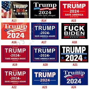 36 стилей Трамп Флаг 3 * 5 FT 2024 Флаги выборов Дональд Тур Мести 150 * 90см баннер