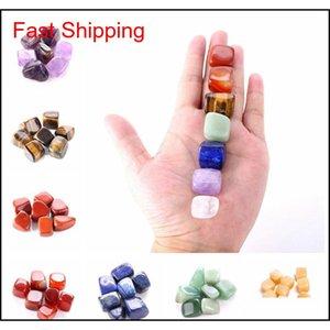 Arts And Arts, Crafts Gifts & Gardennatural Crystal Chakra Stone 7Pcs Set Natural Stones Palm Reiki Healing Crystals Gemstones Home Decorati