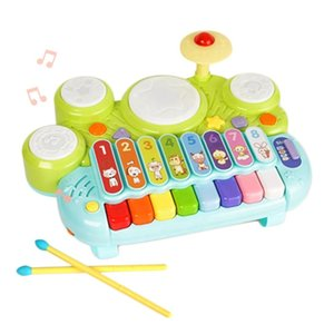 GOODWAY Electronic Organ Children Educational Piano Keyboard Toy Drum Set Musical Xylophone for Kids