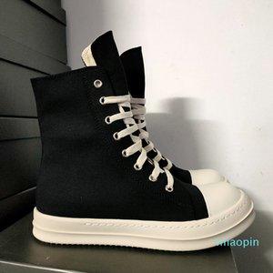 Dress Shoes Rick Black Thick Bottom Increase Dark Owens Mens Canvas Casual Short Boots Female Board Retro Dissol shoe