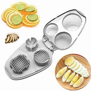 Multifunktions Slicer Avocado Küchenwerkzeug Ei weiß 3 in 1 manueller Haushaltsdicer Edelstahl praktisch 210423