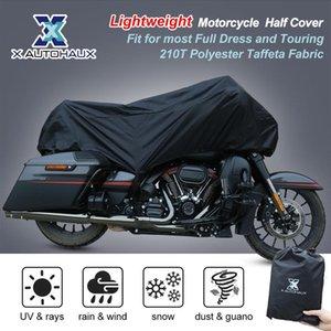 X AUTOHAUX Motorcycle Half Cover 210T Universal All Season Waterproof Dustproof Rain Dust UV Protector Motorcycle Bike