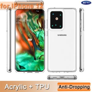 Cell Phone Cases Transparent Shockproof Acrylic Hybrid Armor Hard Case for iPhone 12 mini pro max 11 xr xs 8 plus Samsung S20 Note20 Ultra