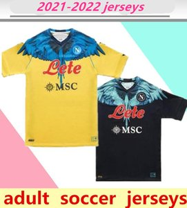 21 22 Napoli Fussball Jersey Neapel Fußball Hemden Spezielle Edition MAILTOT DE FUCE Kulibaly Camiseta Fútbol Insignente Lozano Ossimen Mertens Männer Hemd