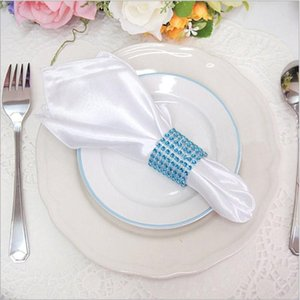 Table Napkin Marious Brand White Satin Wedding And Banquet