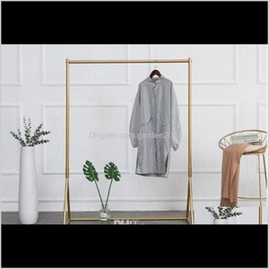 Bedroom Furniture Golden Rack Iron Childrens Cloth Display Womens Clothing Shop Clothes Racks Floor Hanger 14Jkh Fzotw