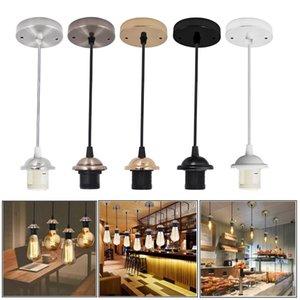 Tndustrial Pendant Lamps Fitting Adjustable E27 Lamp holder Industrial Ceiling Hanging Light Kit Bedroom Kitchen Corridor Restaurant Pendants Lights