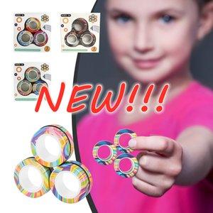 Christmas Magnetic Finger Ring Fidget Magnet Toys Magnetic Block Finger Hand Spinner Stacking Toy Set Magnetic Bracelet Magic Ring Gift New!!!