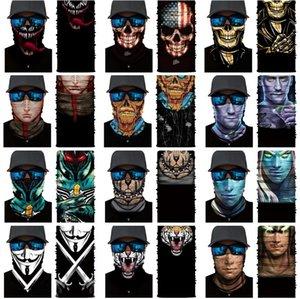 Череп серии повязка на голову осень / зима партия маски защиты волшебный шарф теплые виды спорта езда эластичная хэллоуин маска ZC438-I