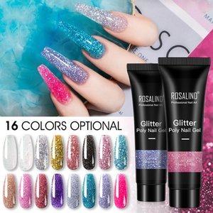 Factory 15ml Silver Gold Glitter Extension Nail Gel Varnishes Hybrid For Nail's Extensions Semi-permanent Gelly Make Long Nails