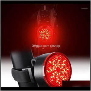 Lights Bicycle Taillight Usb Charging Mountain Bike Riding Equipment Accessories Warning Light Upgrade Cob Lamp Beads Red And Blue1 To Gf1Nz
