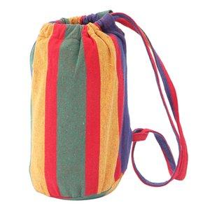 200 * 150 см портативный полиэстер хлопчатобумажный гамак четыре красный