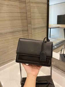 Fashion designer luxury bag 100% genuine leather super A chain handbags simple and versatile high-quality crocodile pattern chains messenger bags with box