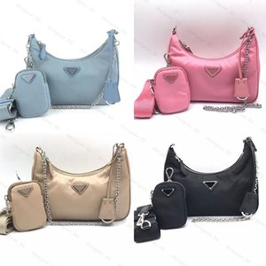Top quality nylon Luxury Designer bag shoulderbags leather handbag best-selling lady cross-body chain bags tote handbags famous fashion Clutch 3 pces in one