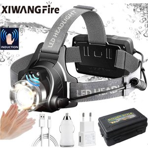 Super Bright LED Headlamp USB Rechargeable Headlight Waterproof Camping Head Lamp 4 Modes Headband Fishing Torch Lantern Headlamps
