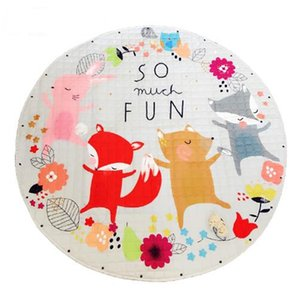 Kids Baby Play Mats Toys Storage Bag Round Carpet Rugs Large Canvas rawling Mat Carpet Portable Canvas kids Toys Sundries Pouch 28 Styles