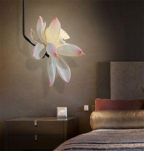 Pendant Lamps Modern Chinese Boom Flower Lights El Bedroom Living Room Bedside Iron Hanging De Lighting