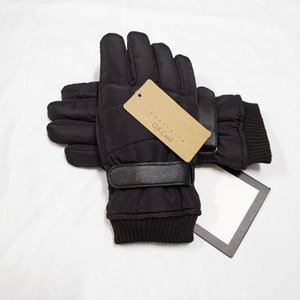 Five Finger Gloves 2021 Fashion Men's Warm Soft Leather Winter Skiing Out Christmas Gift Black
