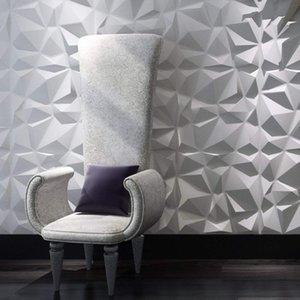 Art3d 50x50 cm 3D Plastik Duvar Panelleri Ses Geçirmez Elmas Tasarım Çıkartmalar Oturma Odası Yatak Odası TV Arka Plan Için Kendi Kendinden Yapışkanlı Beyaz (12 Fayans 32 SQ FT)