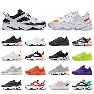 Men Women M2K Tekno Running shoes Retro Trainers Particle Beige Plum Chalk Hyper Cimson Electric Volt Orange Sports Sneakers Men's Women's