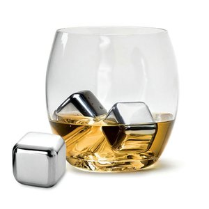 Whisky Stones Ice Cubes Set Coolers Buckets Reusable Food Grade Stainless Steel Wine Cooling Cube Chilling Rock Party Bar Tool