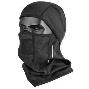 Cycling Caps & Masks Full Face Covering Black Winter Windproof Fleece Ski Headgear Balaclava UV Protection Sun Hood Physical
