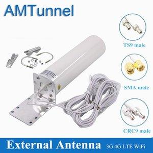 OEM WiFi Antenna 4G LTE Antena SMA 12DBI OMNI Antenne 3G TS9 Мужской 5 м Двойной кабель 2.4 ГГц CRC9 для Huawei B315 E8372 E3372 ZTE маршрутизаторы