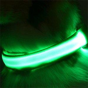 8Colors 4Sizes Night Safety LED Light Flashing Glow Nylon Pet Dog Collar Small Medium Dog Pet Leash Dog Collar Flashing Safety Collar 598 R2