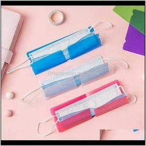 صناديق صناديق قناع الوجه المحمولة كليب البلاستيك البسيطة طوي حامل الحاويات الحلوى الملونة تخزين حالة الغبار 19212 سنتيمتر HHA2123 JKQKO FGXM6