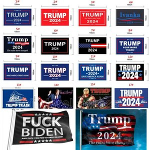 45 designs direct factory 3x5 Ft 90*150 cm save america again Trump Flag For 2024 President USA DHL Ship