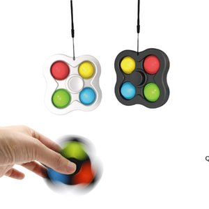 Push Pop It Fidget Pads Toys Key Chain Poppers Board Game Sensory Bubble Educational Toy Anxiety Stress Balls Reliever DHB6291