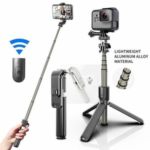 L03 Selfie Stick Foldable Monopods Wireless Bluetooth Control Aluminum Alloy Tripod Stand for Cellphone with Retail Box