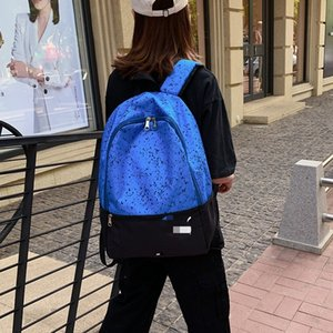 in the street Fashion cool cloth backpack men and women large capacity travel bag for college students schoolbag