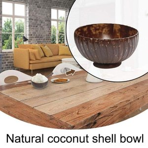 Bowls Natural Coconut Bowl Protection Wooden Kitchen Coco Smoothie Wood Environmental Tableware A6Y9