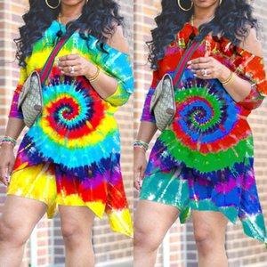 Летние женские шорты Установить галстук Whirlpool футболка Нерегулярные свободные вершины и короткие леггинсы Biker 2-х кусок дизайнеры на обручке трексуита плечо выключить платье G31DJJK